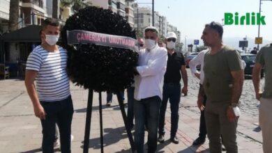 Photo of İzmir'deki Yunanistan Konsolosluğu'nun Önüne Siyah Çelenk